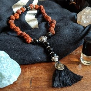 Jewelry - Traditional Mala: Rudraksha & Black Onyx!